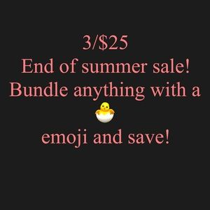 3/$25 sale! Bundle anything with a 🐣